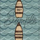 Gone Fishing Fish Waves ~ Salt & Pepper Shaker Covers Wrappers