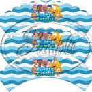 Bubble Guppies ~ Faux or Inspired By ~ Scalloped Cupcake Wrappers ~ Set of 1 Dozen