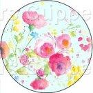 Aqua Wild Flowers ~ Cupcake Toppers ~ Set of 1 Dozen