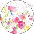 White Wild Flowers ~ Cupcake Toppers ~ Set of 1 Dozen