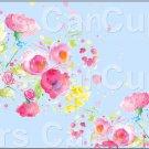 "Blue Wild Flowers  ~ Horizontal  ~ 6"" X 8"" Foil Pan Lid Cover"