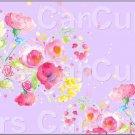 "Lavender Wild Flowers  ~ Horizontal  ~ 6"" X 8"" Foil Pan Lid Cover"