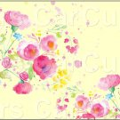 "Yellow Wild Flowers  ~ Horizontal  ~ 6"" X 8"" Foil Pan Lid Cover"