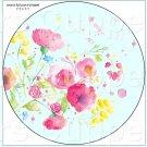 "Aqua Wild Flowers  ~ 7"" Round Foil Pan Lid Cover"