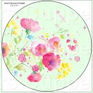 "Green Wild Flowers  ~ 7"" Round Foil Pan Lid Cover"