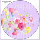 "Lavender Wild Flowers  ~ 7"" Round Foil Pan Lid Cover"