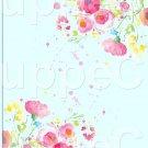 "Aqua Wild Flowers  ~ Vertical ~ 6"" X 8"" Foil Pan Lid Cover"