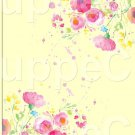 """Yellow Wild Flowers  ~ Vertical ~ 6"""" X 8"""" Foil Pan Lid Cover"""