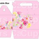 Pink Wild Flowers   ~ MINI Gable Gift or Snack Box DOZEN