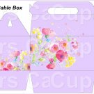Lavender Wild Flowers   ~ MINI Gable Gift or Snack Box DOZEN
