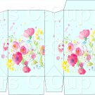 Aqua Wild FLowers ~ Square Top Pinch Treat or Gift Box ~ 1 DOZEN
