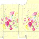 Yellow Wild FLowers ~ Square Top Pinch Treat or Gift Box ~ 1 DOZEN