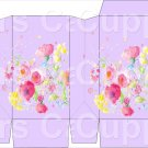 Lavender Wild FLowers ~ Square Top Pinch Treat or Gift Box 1 EACH