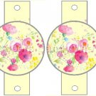 Yellow Wild Flowers ~ Pencil, Straw or Candy Cane Sliders ~ Set of 12