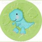 Dinosaur Green #2 ~ Cupcake Toppers ~ Set of 1 Dozen