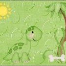 "Dinosaur Green  ~ Horizontal  ~ 6"" X 8"" Foil Pan Lid Cover"