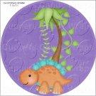 "Dinosaur Purple  ~ 7"" Round Foil Pan Lid Cover"