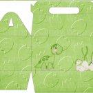 Dinosaur Green #14 ~ Gable Gift or Snack Box DOZEN