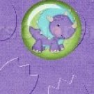 Dinosaur Purple #5 ~ MINI Candy Bar Wrappers 1 DOZEN