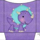 Dinosaur Purple #5 ~ Cookie Pouch ~ Sleeve DOZEN