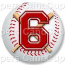 Red Baseball Number 6 ~ Cupcake Toppers ~ Set of 1 Dozen