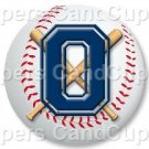 Blue Baseball Number 0 ~ Cupcake Toppers ~ Set of 1 Dozen