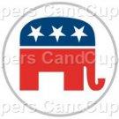 Republican Elephant #1 ~ Cupcake Toppers ~ Set of 1 Dozen