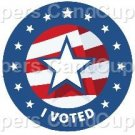 I Voted ~ Cupcake Toppers ~ Set of 1 Dozen