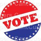 Vote #4 ~ Cupcake Toppers ~ Set of 1 Dozen