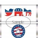 I Voted Republican Democrat, Independent ~ Standard 1.55 oz Candy Bar Wrapper  SOE