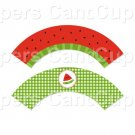 Watermelon Slice ~  Cupcake Wrappers ~ Set of 1 Dozen
