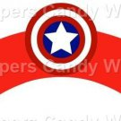 Captian America ~  Cupcake Wrappers ~ Set of 1 Dozen