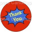Super Heros Thank you Splash Bubble ~ Cupcake Toppers ~ Set of 1 Dozen