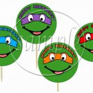 Variety of All Teenage Mutant Ninja Turtles Inspired by~ Cupcake Toppers ~ Set of 1 Dozen