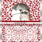 Red Hearts Grumpy Cat Inspired by ~ Standard 1.55 oz Candy Bar Wrapper  SOE