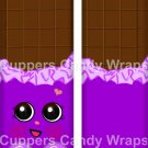 Cheeky Chocolate Purple Inspired by Inspired by ~ Standard 1.55 oz Candy Bar Wrapper  SOE