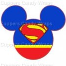 Superman Mickey Mouse Inspired by  Super Heroes ~ Cupcake Toppers ~ Set of 1 Dozen