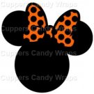 Orange Bow Silhouette Head  Minnie Mouse Inspired by ~ Cupcake Toppers ~ Set of 1 Dozen