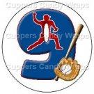 #9 Baseball  ~ Cupcake Toppers ~ Set of 1 Dozen