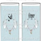 Blue Dove Linen Wedding Personalize It or Blank  ~ Salt & Pepper Shaker Covers Wrappers