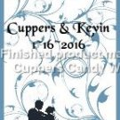 Blue Fantasy Wedding #3 Personalized & Blank ~ MINI Candy Bar Wrappers 1 DOZEN