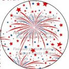 Red White Blue Fireworks ~ Cupcake Toppers ~ Set of 1 Dozen
