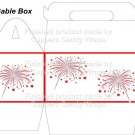 Red White Blue Fireworks ~ Gable Gift or Snack Box EACH