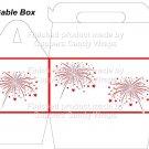 Red White Blue Fireworks ~ MINI Gable Gift or Snack Box DOZEN
