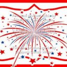 Red White Blue Fireworks Personalize It or Blank ~ Water Bottle Wrapper ~ Set of 12