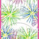 Pink Green Blue Fireworks Pink Border   ~ MINI Candy Bar Wrappers 1 DOZEN