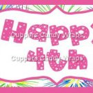Pink Green Blue Fireworks Pink Border  Personalize It or Blank ~ Water Bottle Wrapper ~ Set of 12