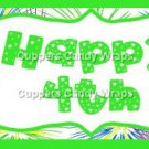 Pink Green Blue Fireworks Green Border Personalize It or Blank ~ Water Bottle Wrapper ~ Set of 12