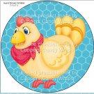 Chicken Wire Hen #3 ~ Cupcake Toppers ~ Set of 1 Dozen