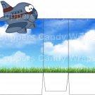 Blue Airplane ~ Open Top 3D Treat or Gift Box ~ 1 DOZEN